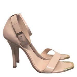 Cream Leather Heels